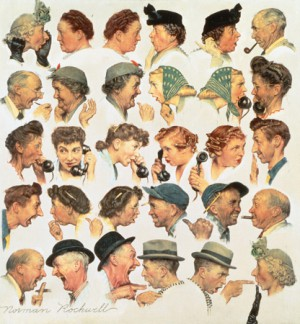 "Norman Rockwell (1894-1978), ""The Gossips,"" 1948"