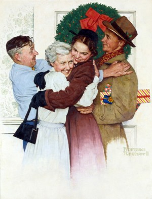 "Norman Rockwell (1894-1978), ""Home for Christmas,"" 1955"