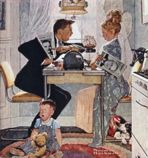 """Norman Rockwell (1894-1978), """"Breakfast Table Political Argument"""