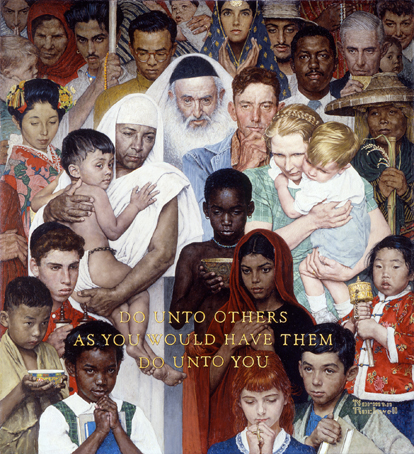 "Norman Rockwell (1894-1978), ""Golden Rule,"" 1961"