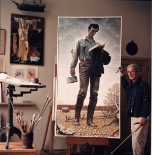 Photo of Norman Rockwell by Louie Lamone, 1964.