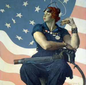 Rosie the Riveter (detail): May 29, 1943. SEP.