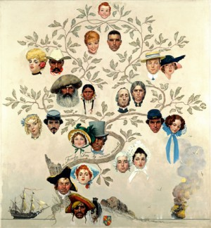 "Norman Rockwell (1894-1978), ""Family Tree,"" 1959"