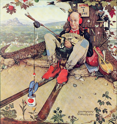 "Norman Rockwell (1894-1978), ""April Fool: Fishing,"" 1945"