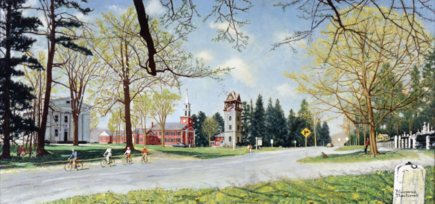 "Norman Rockwell (1894-1978), ""Springtime in Stockbridge,"" 1971"