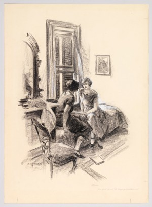 "Edward Hopper (1882-1967), ""Study for illustration for Eva Moore Adams ""Shady"" Scribner's Magazine 76 (December 1924)"