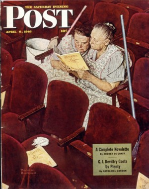 """Norman Rockwell (1894-1978), """"Charwomen in Theater,"""" 1946"""