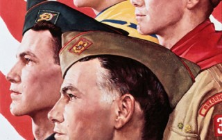 """Norman Rockwell (1894-1978), """"Growth of a Leader,"""" 1966"""