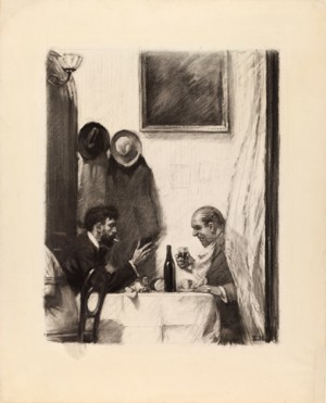 "Edward Hopper (1882-1967), ""(In a Restaurant),"" (c. 1916-1925)"