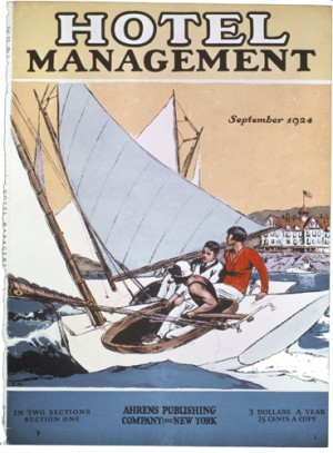 "Edward Hopper (1882-1967), Cover illustration for ""Hotel Management,"" September 1924."