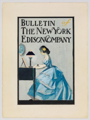 "Edward Hopper (1882-1967). Cover for ""Bulletin of the New York Edison Company"""