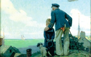 "Norman Rockwell (1894-1978), ""The Stay at Homes (Outward Bound)"""