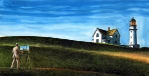 "Wendell Minor, illustration for ""Edward Hopper Paints His World,"" 2014"