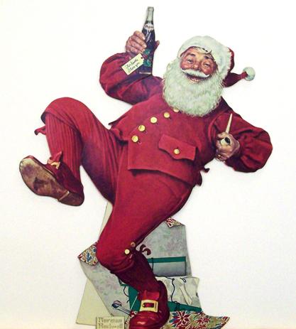 "Norman Rockwell (1894-1978), ""Pepsi Cola Santa,"" 1965"