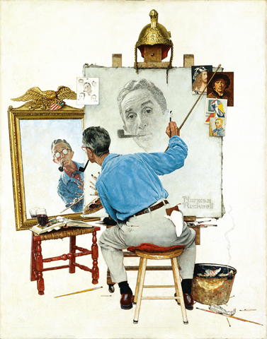 "Norman Rockwell (1894-1978), ""Triple Self-Portrait,"" 1959"