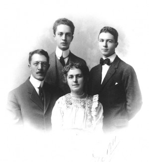 Norman Rockwell and family, 1911.