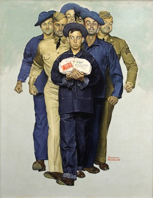 "Norman Rockwell (1894-1978), ""Willie Gillis' Care Package from Home,"" 1941"