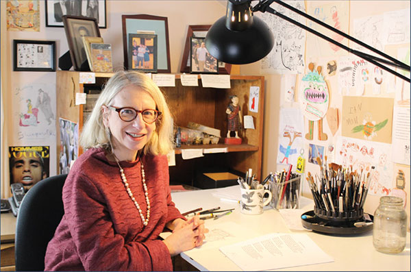 Roz Chast in her Studio