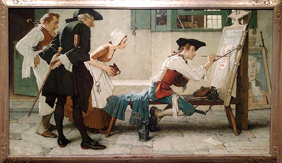 "Norman Rockwell (1894-1978), ""The New Tavern Sign (Colonial Sign Painter),"" 1936"