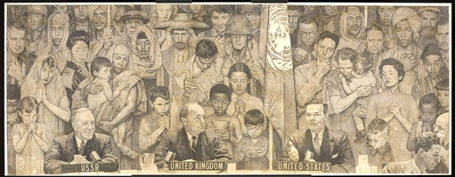 "Norman Rockwell (1894-1978), ""United Nations,"" 1953"