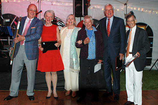 Photo of honorees at Norman Rockwell Museum's Summer Gala, June 6, 2015. Photo by Walt Engels for Norman Rockwell Museum. All rights reserved.