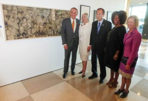 "Publicity shot of ""We the Peoples"" Exhibition at the United Nations"
