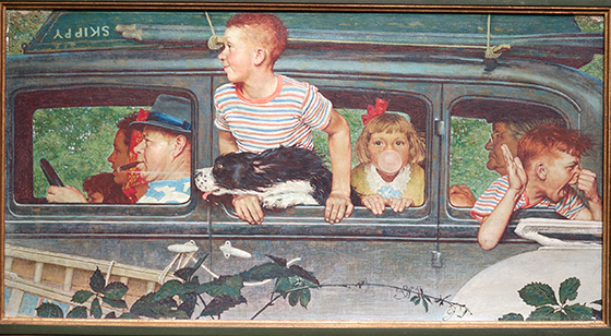 "Norman Rockwell, ""Going and Coming"" (detail)"