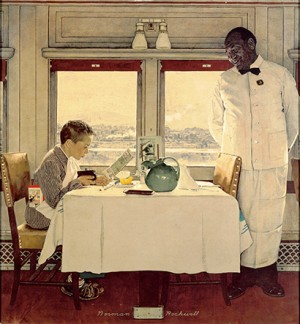 "Norman Rockwell (1894-1978), ""Boy in Dining Car,"" 1946"