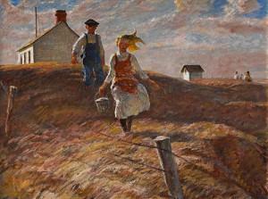 "Harvey Dunn (1884-1952), ""After School,"" 1950"