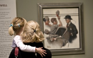 "Norman Rockwell Museum galleries (mother and daughter looking at ""Boy with Baby Carriage"")"