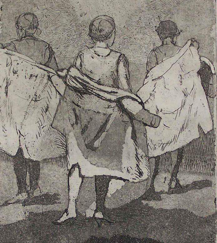 Three Women with Coats - Isabel Bishop