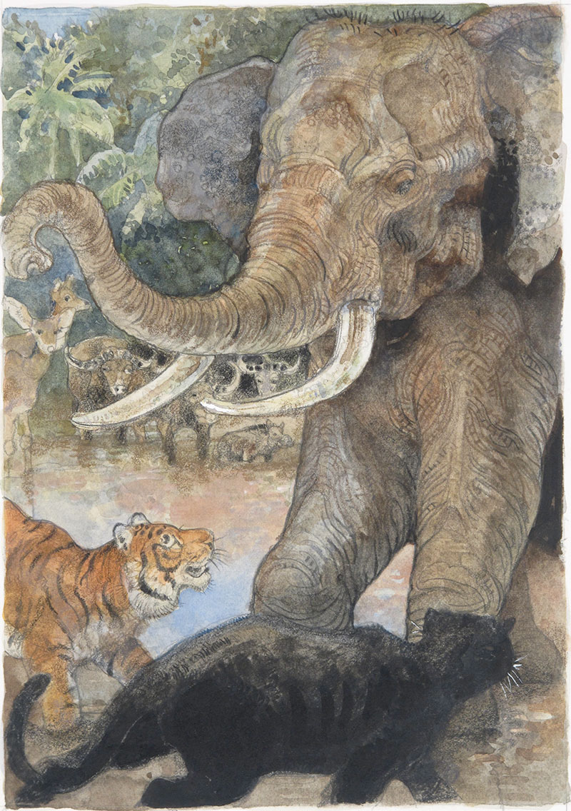 The Tiger Shere Kahn and the Elephant Hathi (1995)