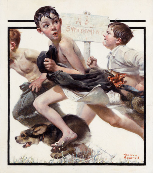No Swimming - Art of Norman Rockwell