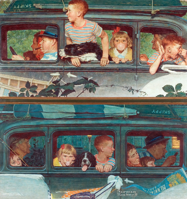 Going and Coming - Art of Norman Rockwell