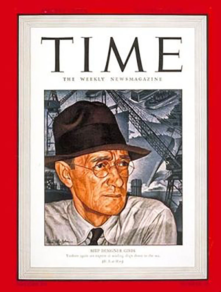 William Francis Gibbs on the cover of Time Magazine