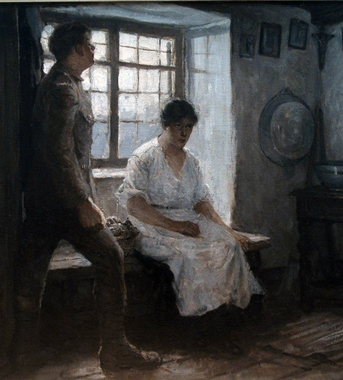 Edmund Ward - [Canadian Soldier with Seated Woman] c.1921