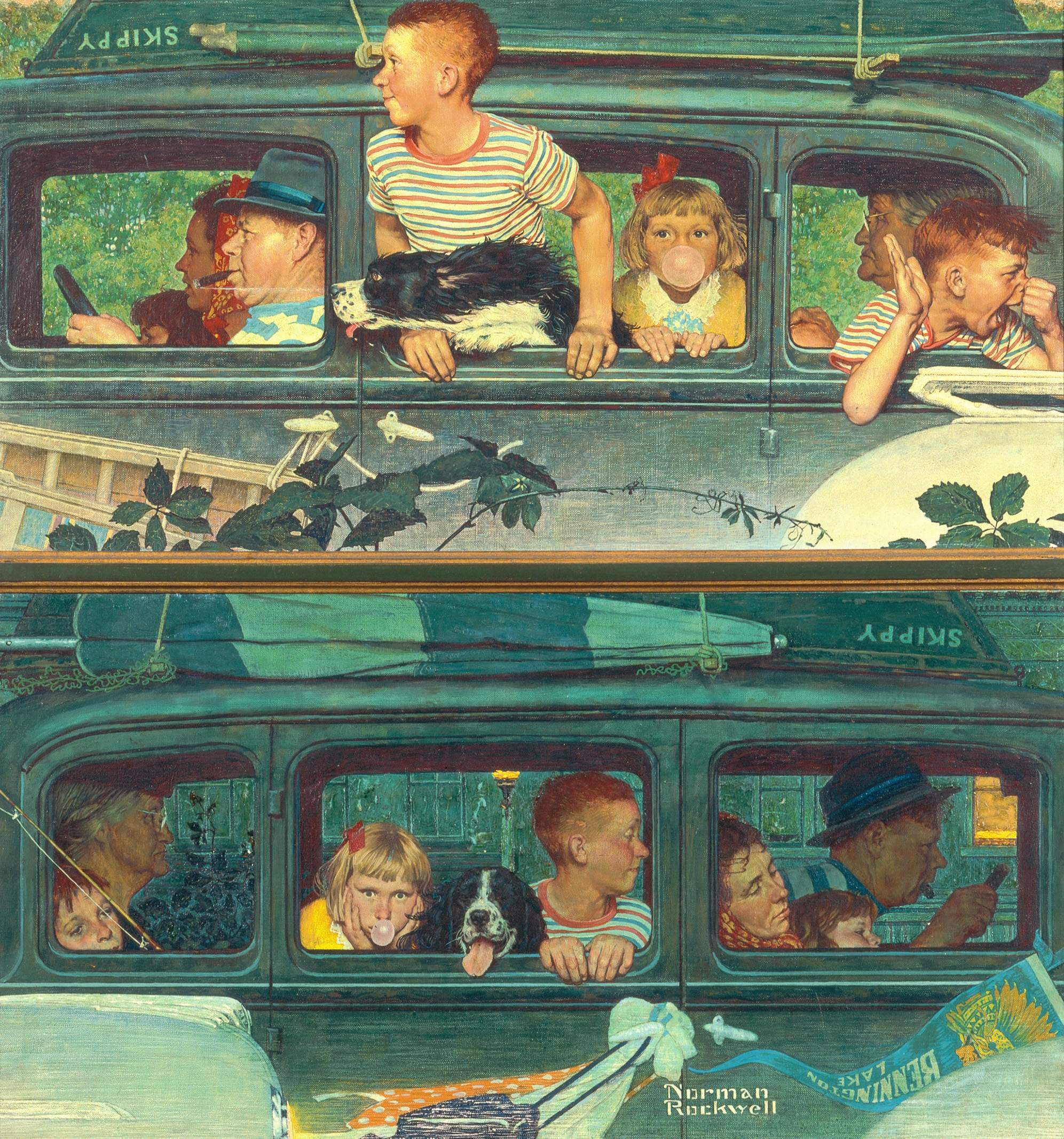 Going and Coming - Norman Rockwell