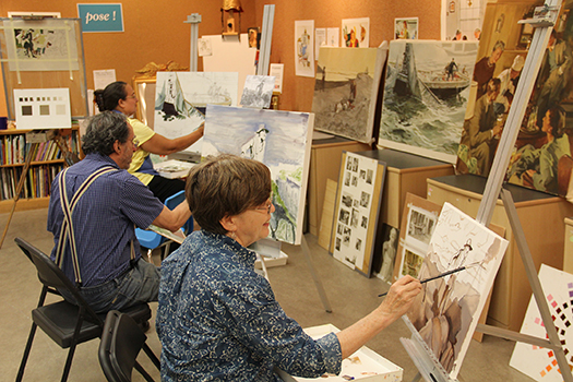 Norman Rockwell Museum art workshop