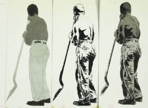 Man with shovel sequence