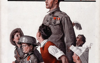 "Norman Rockwell (1894-1978), ""WWI Soldier Marching with Children."" 1919"