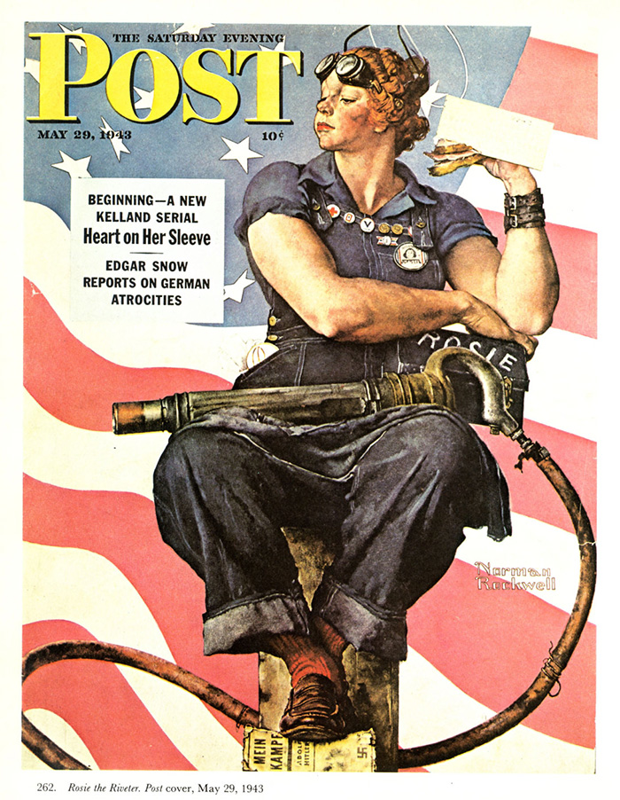 rosie the riveter norman rockwell museum the home for american illustration. Black Bedroom Furniture Sets. Home Design Ideas