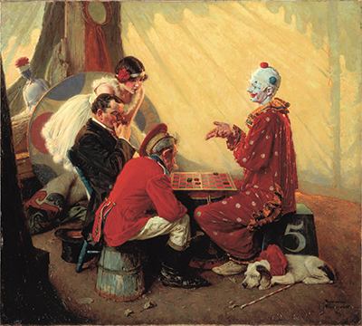 """Norman Rockwell (American, 1894-1978), """"Checkers,"""" 1929."""