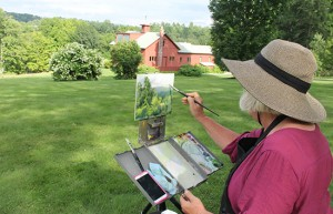 Plein air painting at NRM