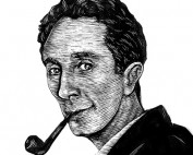Portrait of Norman Rockwell by Bri Hermanson