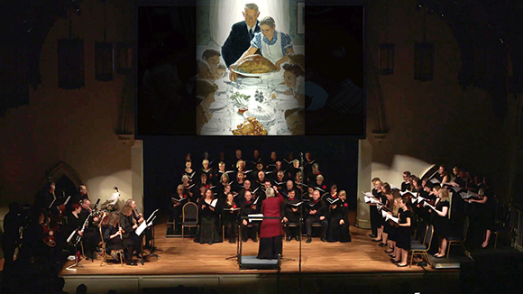 "Crescendo performing ""Paintings in Song."""