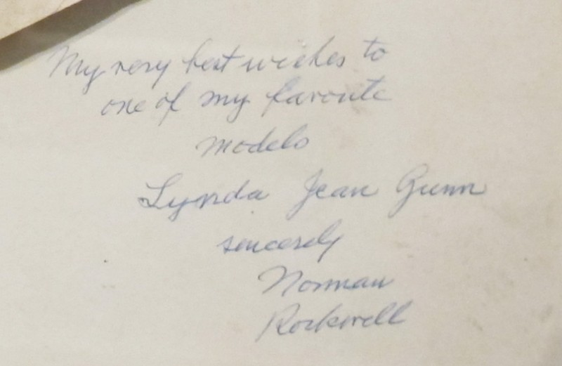 "Note from Norman Rockwell to Lynda Gunn under charcoal sketch for ""Problem We All Live With"", 1963 - Gift of Lynda Jean Gunn – Norman Rockwell Museum Collection"