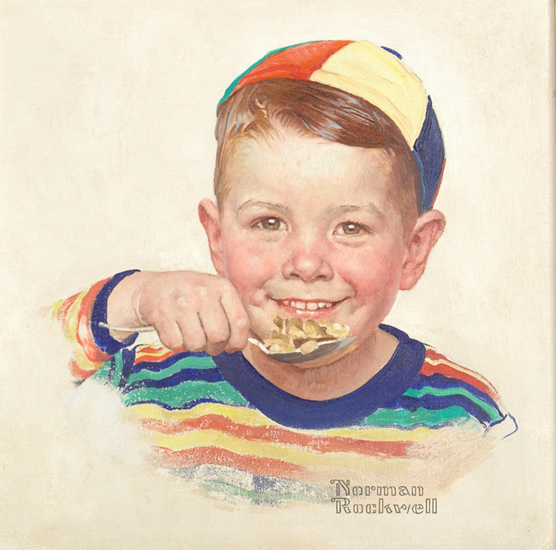 Advertising illustrations for the Kellogg Company - Beanie, 1954